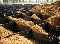 La carretera de alta calidad de plástico de HDPE Geocell refuerzo Estabilizador de la grava del suelo