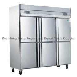 acier inoxydable six portes Cuisine vitrine VERTICALE/ Commercialfreezer Réfrigérateur/refroidisseur