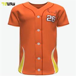 Custom mujer sublime simple camiseta de béisbol