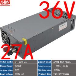 1000W スイッチング電源 DC 出力 36V27A 可変モータ電源 供給