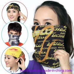 Sublimación multifuncional impresos personalizados de Bandana, fuelle de la boca del tubo de máscara Facecover sombreros
