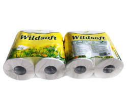 La suavidad de embalaje de rollos de 4 Virgen papel higiénico, mejor calidad