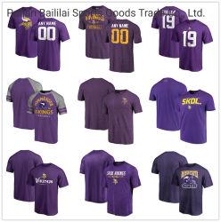 Custom Vikings Sideline Performances de vitesse football Heathered T-Shirt - Violet