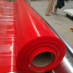 Het stevige Rode/Transparante het Verwarmen van het Silicone RubberBlad van de Glasvezel