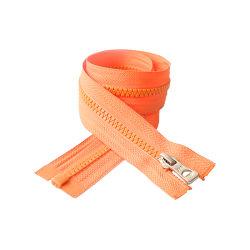 #5 플라스틱 주황색 색깔 니켈 슬라이더 무제한 대출 제공 지퍼