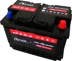 Bateria de arranque e paragem amplamente utilizadopara o Veículo com sistema de arranque/paragem.