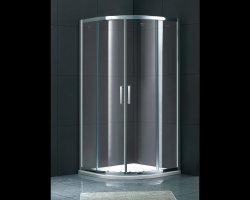 Gabinete de banho Gemy corrediço de porta de cabina de duche simples de vidro temperado