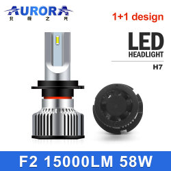 Gran cantidad de lúmenes de fábrica H7 Faro automático de luces LED Bombilla de luz LED de luz de coche