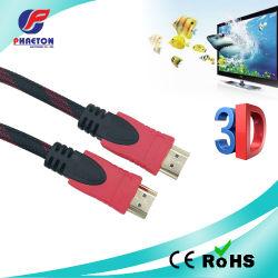 Comunicação de dados AV 4K cabo HDMI com Ferrite de Ethernet