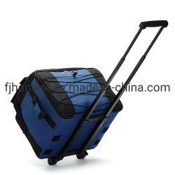 Isolé de polyester de grande capacité commerciale pique-nique de trolley sac isotherme avec des roues