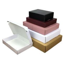 جملة فارغة [كرافت] ورقة صناديق كبيرة حجم هدية يعبّئ صندوق غطاء وعلبة بسيطيتان