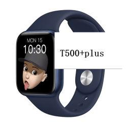 Shenzhen Electronic BLE Smart Watch 2021 건강 팔찌 알람 시계 실리카 겔 알로이 피트니스 장비 여성 남성 T500+ 플러스