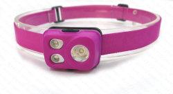 Micro recarregável USB Super Bright LED de exterior Lanterna de cabeça