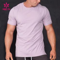 ملابس رياضيّة مصنوعة من القطن المصري والإسباندكس تي قميص ذات عنق مستدير للرجال