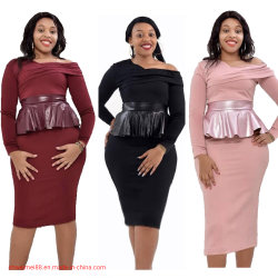 Frauen-Kleid-Kleidung-Dame-Form-schönes Kleid-Büro-Arbeits-Kleid-Frauen-Maxi Kleidkaftan-Kleid-elegantes Cocktailkleid