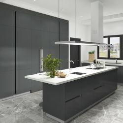 Oppeinの現代無光沢の黒いラッカーカスタムJoineryの食器棚