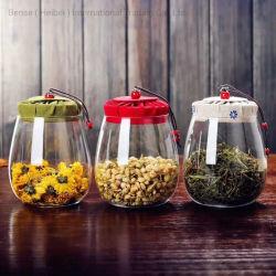 Высокая боросиликатного стекла стеклянной посуды в горшочках со стеклянным кувшином стеклянные бутылки кухне продукты