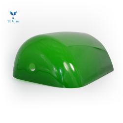 La bouche en verre soufflé Tableau vert lumière pour la table Lampes de banquier