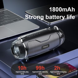 2021 새로 도착하는 실외 IPX4 LED Flashlight 방수 휴대용 서브우퍼 무선 Bluetooth 미니 스피커