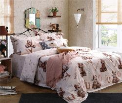 China-Fabrik liefern die Baumwollbären-Drucken-Bettwäsche 100%, die für Hotel/Aufenthalt in Gastfamilien eingestellt wird
