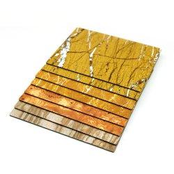 [فيربرووف] رخاميّ لون ألومنيوم بلاستيكيّة مركّب لوح بما أنّ جدار مادة