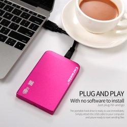중국 출하 시 휴대용 하드 드라이브 외장 USB 3.0 500GB 2TB PC Mac용 1TB 2.5인치 외장 모바일 하드 디스크 HDD 데스크탑 노트북