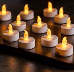 Flameless Segurança Sem telecomando Birthday Mini Vela eléctrica recarregável círio luz LED chá amarelo
