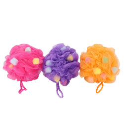 High Quality Soft Mesh Washing Ball Massage Sponge Bath Puff Kleurrijke en grappige Product Douche Sponge Mesh Sponge Bath Ball