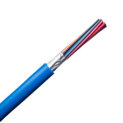BS5308 الشاشة الفردية والجماعية التجهيزات الداخلية غير المصفحة كابل البيانات 0.5مم2 0.75مم2 كبلات أجهزة قياس 1 مم PE PVC خارجي