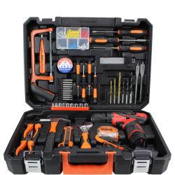 Jeu d'outils d'alimentation 47pcs pile rechargeable au lithium perceuse électrique Jeu d'outils de ménage
