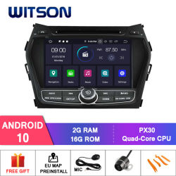 포함되는 Hyundai IX45 외부 마이크를 위한 Witson 쿼드 코어 인조 인간 10 차 DVD GPS, 붙박이 TPMS 기능