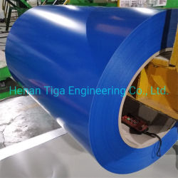 Filme de PVC revestido de cor PPGI PPGL Folha de ferro/Prepainted galvanizado bobina de aço