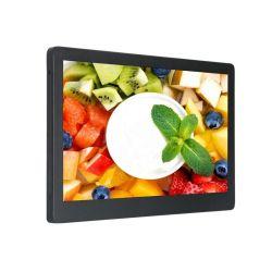 옥외 비바람에 견디는 LCD 스크린 최고 호리호리한 LCD 잘 고정된 상점 진열창