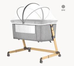P765 رمادي قابل للطي محمول قابل للطي سرير كرادل أوروبي حديث الولادة مريح