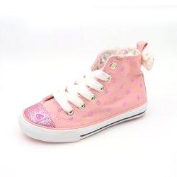 Heiße verkaufenform-beiläufige Kind-Sport-Großhandelsschuhe schnüren sich oben flaches Segeltuch-hohe oberste kundenspezifische Schuhe