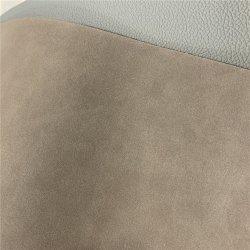 Venda por grosso de camurça genuína artificial de PVC Dull sofá de couro acabado polaco