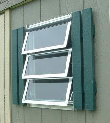 Дом с двойными стеклами закаленное стекло алюминиевых окон повесил трубку со стороны рукоятки для ручного открытия алюминия вверх вниз опускное стекло