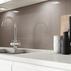 3-6 mm Extra Claro blanco y negro lacado rojo Splash muebles pintados de nuevo edificio de diseño de muebles de color cristal decorativo para armario de cocina