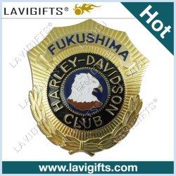 La promoción de la moda de metal 3D de logotipo personalizado insignia de solapa militares de hojalata coche de policía del ejército Botón Soft Hard Nombre de esmalte blanco Insignia de Oro el emblema de regalo promocional