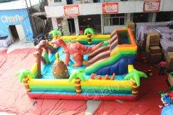 Парк развлечений надувные Bouncer динозавров игровая площадка упругие Combo прыжком замок надувной игровой площадкой