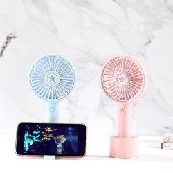Van het LEIDENE van de Kleur van de Houder van de telefoon Aroma het Lichte Bureau van de Batterij Handige Ventilator