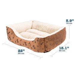 Kühles Gewebe-Haustier-Hunde-und Katze-Matten-Bett mit den Knochen