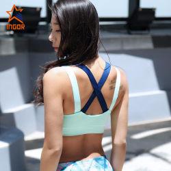 Commerce de gros de Yoga plaine de remise en forme d'usure femmes sexy Sports Bra spandex en nylon