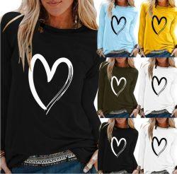 Magliette lunghe del collo del manicotto O delle donne di modo