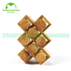 Bambusküche-Gewürz-Gewürz-Organisator-Zahnstange
