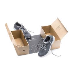 Commerce de gros logo personnalisé de haute qualité de l'impression flexo Corrugate PLIABLE carton emballages papier expédition boîte à chaussures