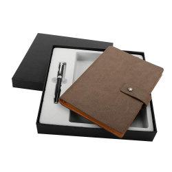 Деловые подарки индивидуального логотипа кожаные A5 ноутбук под давлением многоразового использования,