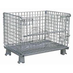 Plegable de acero desmontable de almacenamiento de palets de malla de alambre de metal de Verificación para la venta