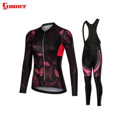 Polyester OEM personnalisé Aibort Dry Fit femme maillot de cyclisme (N-C18)