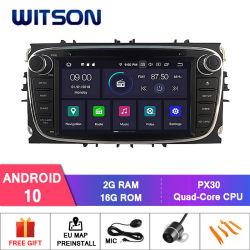 Processeurs quatre coeurs Witson Android 10 DVD de voiture GPS pour Ford Mondeo (2007-2013) /Focus (2008-2011) Microphone externe inclus, construit en fonction SSPP